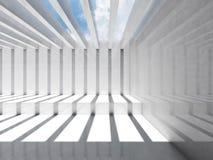 Abstract leeg wit 3d binnenland Zaal Royalty-vrije Stock Fotografie