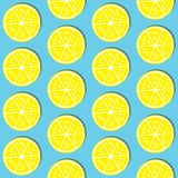 ABSTRACT LEMON SLICE SEAMLESS VECTOR PATTERN. FRESH SUMMER FEELING PATTERN. LEMON. JUICY AND FRESH. SEAMLESS VECTOR PATTERN. SUMMER FEELING. FUNNY FUIT TEXTURE Royalty Free Stock Photography