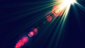 Abstract Lens Flare Background. Made in Computer Graphics stock illustration