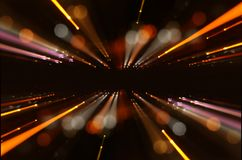 Abstract lens flare. concept image of space or time travel background over dark colors and bright lights. Abstract lens flare. concept image of space or time Royalty Free Stock Images