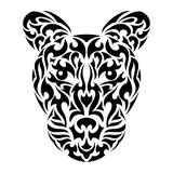 Abstract leopard's head in tribal style Stock Photography