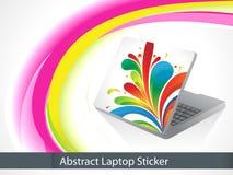 Abstract leptop sticker Stock Photos