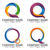 Abstract Letter Q Modern Digital Logo Concept Royalty Free Stock Image