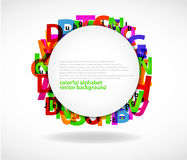 Abstract letters Royalty Free Stock Images