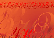 Abstract Letters background Stock Images