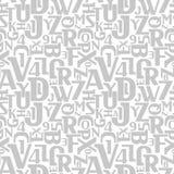 Abstract letters en getallen naadloos patroon Stock Foto's