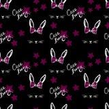 Abstract leuk konijn met het patroon van het booggezicht Stock Foto's