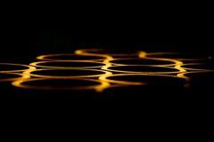 Abstract Licht als achtergrond dat van de lip g wordt weerspiegeld Stock Fotografie