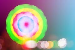 Abstract licht bokeh bij nacht uitstekende toon Stock Foto's