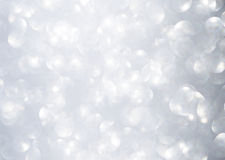 Abstract licht bokeh over grijze achtergrond Stock Foto