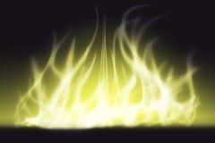 Abstract licht en rook in geel Royalty-vrije Stock Afbeeldingen