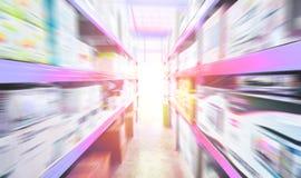 Abstract licht en snel gekropen aan de voorzijde en de tunnel des royalty-vrije illustratie