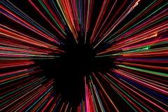 Abstract licht frame met zwarte achtergrond Stock Afbeeldingen