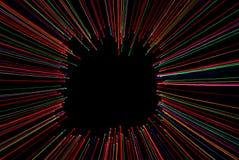 Abstract licht frame met zwarte achtergrond Royalty-vrije Stock Fotografie