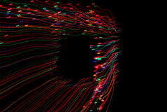 Abstract licht frame met zwarte achtergrond Royalty-vrije Stock Afbeelding