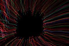 Abstract licht frame met zwarte achtergrond Stock Afbeelding