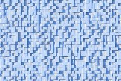 Abstract Lichtblauw 3d Geometrisch Klein Kubus Achtergrondontwerppatroon in Zonlicht stock illustratie