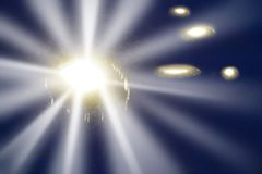 Abstract Light. A ufo at night, abstract blur Stock Photography
