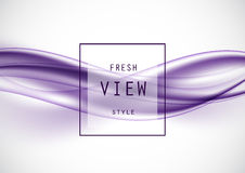 Abstract light art design template. With purple elegant dynamic waves in smooth style. Vector illustration vector illustration