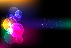 Abstract light background. Brilliant vector abstract lights background Stock Photography