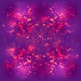 Abstract light background, Blurred bright magenta purple space, fire particle Stock Photos
