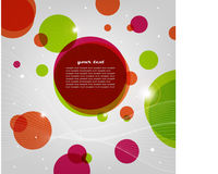 Abstract light background with circles. Vector illustration: abstract background with circles, lines and light effects Stock Photography