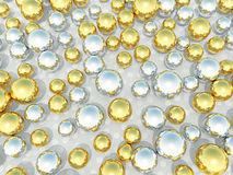 Abstract light background with gold and silvery ba Stock Photo