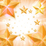 Abstract light background with gold stars Royalty Free Stock Images