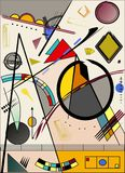 Abstract  light  background ,inspired by the  painter kandinsky Royalty Free Stock Image