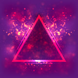 Abstract light background, luminous triangular frame. Blurred bright magenta space. Abstract light background, luminous triangular frame. Blurred bright magenta royalty free illustration
