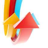 Abstract light background made of arrows Stock Photo