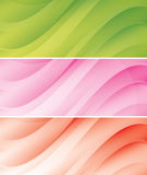 Abstract light backgrounds (headers) - vector set Royalty Free Stock Images