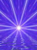 Abstract light beams. Light beams, abstract blue background royalty free illustration