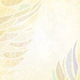 Abstract light  beige floral background Royalty Free Stock Photography