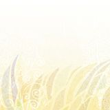 Abstract light  beige floral background Royalty Free Stock Images