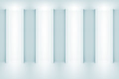 Abstract light blue architecture background 3 d. Abstract light blue architecture background. Wall with light niches. 3d illustration Stock Images