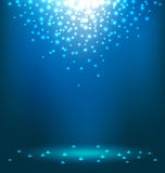 Abstract  light on blue background. Abstract magic Light on blue background Royalty Free Stock Photos