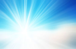 Abstract light in blue background. Stock Photography