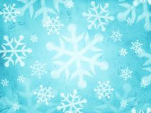 Abstract light blue background with snowflakes. Retro christmas holiday card, light blue background with illustrated striped snowflakes Stock Photo