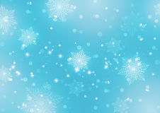 Abstract Light Blue Background with Snowflakes Stock Photos