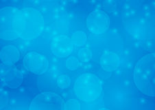 Abstract Light Blue Bokeh blur background Stock Photo