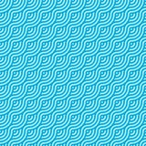 Abstract light blue circle wave seamless pattern background stock illustration