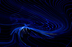 Abstract Light Blue Dynamic Waves Lines HD. Light Blue Dynamic Waves Lines Abstract HD Background Wallpaper Image On Dark Black Background stock illustration