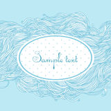 Abstract light blue hand-drawn pattern Royalty Free Stock Photography