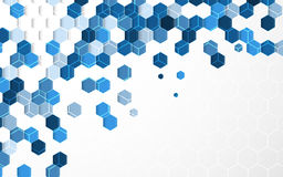 Abstract light blue hexagon background with white border. Concept for New Technology Corporate Business & development background Royalty Free Stock Photo
