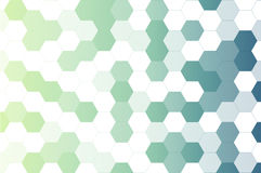 Abstract light and blue hexagon pattern background Stock Photography