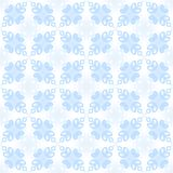 Abstract light blue petal pattern on white background.  Leafy tile texture. Seamless illustration. Royalty Free Stock Photos