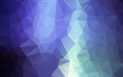 Abstract Light Blue polygonal illustration, which consist of triangles. Geometric background in Origami style with gradient. Triangular design for your royalty free illustration
