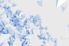 Abstract blue polygonal wallpaper. Abstract light blue polygonal wallpaper. Art, creativity concept. 3D Rendering Royalty Free Stock Photo