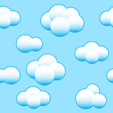 Abstract light blue sky background royalty free illustration